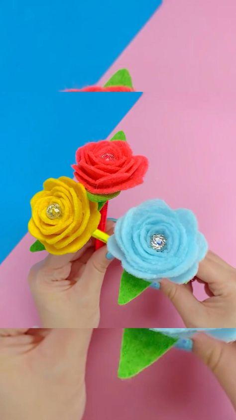 DIY - Flower pen decor idea