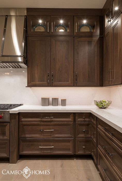77 Stylish Dark Brown Cabinets Kitchen Suitable For Cooking Http Homecemoro C Farmhouse Style Kitchen Cabinets Kitchen Cabinet Styles Brown Kitchen Cabinets