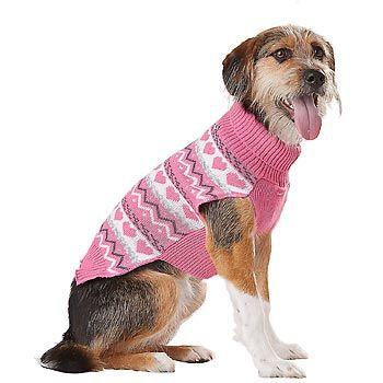 Petco Smoochie Pooch Pink Fair Isle Dog Sweater | Animals | Pinterest