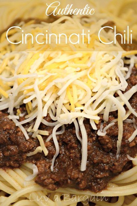 Cincinnati Chili Recipe - Closest to the real thing yummi-ness! LuvaBargain.com
