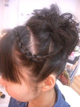 お祭りアップ髪型 ミディアムボブで襟足3センチアレンジ メール ヘアスタイル アレンジ ファイル ミディアムボブ 髪型 祭り 髪型
