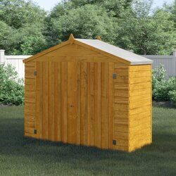 7 Ft W X 3 Ft D Overlap Apex Wooden Bike Shed In 2020 Bike