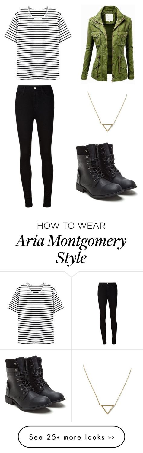 """Aria Montgomery"" by raanijayde on Polyvore featuring AG Adriano Goldschmied and Banana Republic"