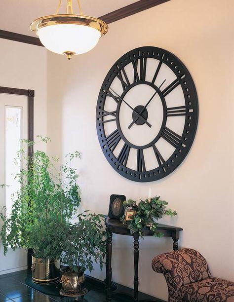 Oversized Wall Clock Clock Wall Decor Black Wall Clock Giant Clock