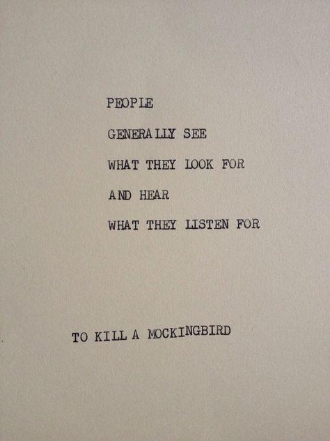 TO KILL A MOCKINGBIRD Typewriter quote on 5x7 by WritersWire, $6.00