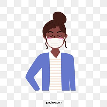 Woman Wearing Black Face Mask At Work Woman Female Epidemic Prevention Png And Vector With Transparent Background For Free Download Wearing Black Women Wear Cartoon Witch