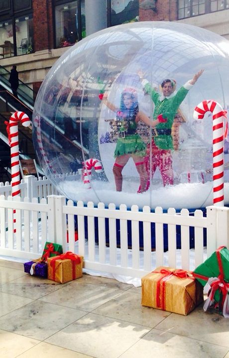 The Christmas Snow Globe Christmas Snow Globes Christmas Booth