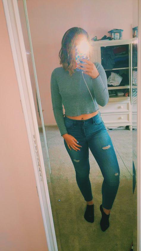 VSCO - #clothes #mirror #outfit #croptop #jeans #style   kellyshamon