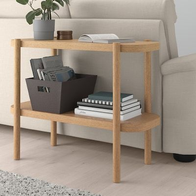 Listerby Console Table White Stained Oak 36 1 4x15x28 Ikea In 2021 Bed Frame With Storage Solid - White Console Table With Storage Ikea