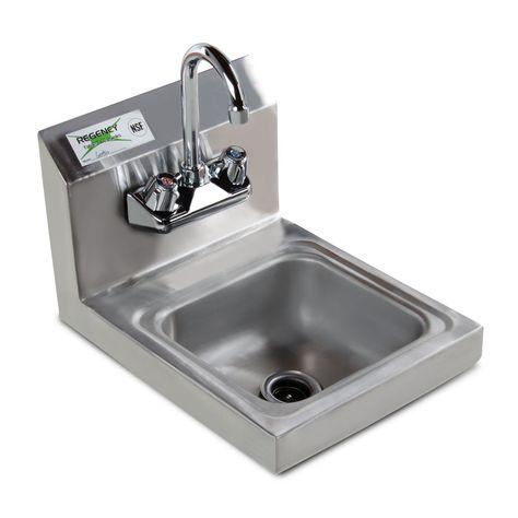Wall Mounted Hand Sink with Gooseneck