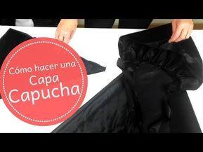 Capa Con Capucha Para Disfraz Youtube En 2020 Capa Con Capucha Capuchas Disfraz Caperucita Roja