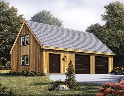 Two Car Garage With Loft Garage Plans