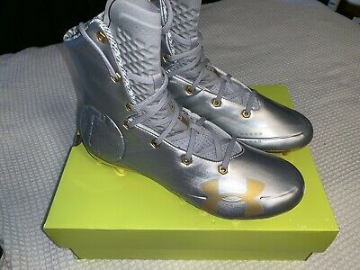 Under Armour Highlight MC LE Silver//Gold Football Cleat 3000338-100