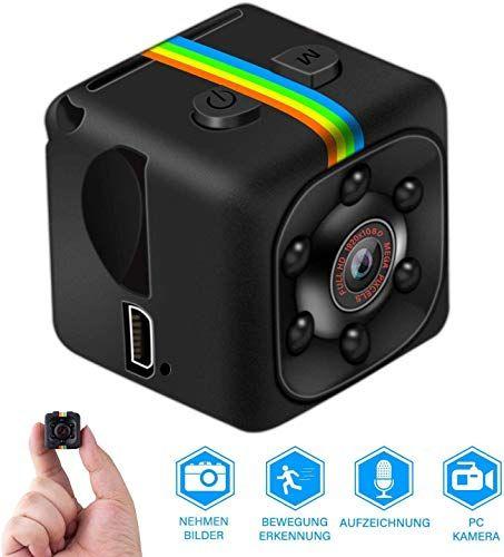 Mini Kamera Full Hd 1080p Tragbare Kleine Uberwachungskamera Mikro Nanny Cam Mit Bewegungserkennung Und Infrarot In 2020 Uberwachungskamera Mini Kamera Kleine Kamera