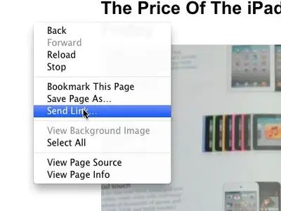 How To Send Link Via Email In Chrome Business Insider Saved Pages Bookmark This Page Sent
