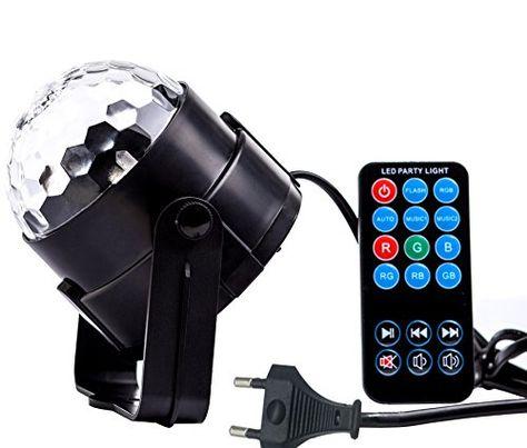 Besmall RGB LED USB Mp3 Discokugel Licht mit Fernbedienung f r - küchen led leiste