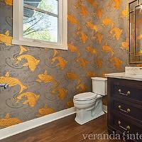features gray and gold koi wallpaper, Osborne and Little Derwent ...