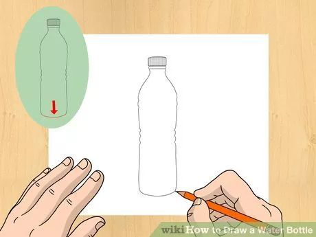 How To Draw A Water Bottle Bottle Drawing Water Bottle Drawing Super Coloring Pages