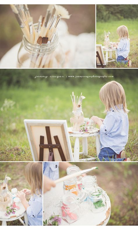 franklin tn child photography | little artist | jenny cruger photography