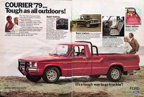1979 Ford Courier Pickup Truck Advertisement Hot Rod December 1978