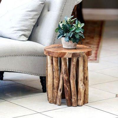 Driftwood Diy Furniture, Wooden Side Table For Garden
