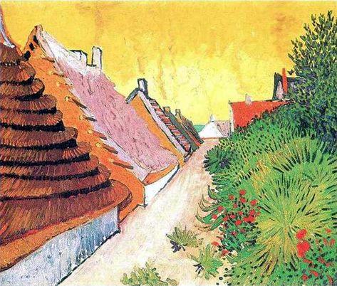 Van Gogh Et Les Chaumieres Saintines Christian Lassure Art De