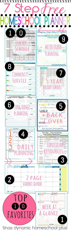 7 Step Free Homeschool Planner  Top 10 Favorites   Tina's Dynamic Homeschool Plus #7stephomeschoolplanner
