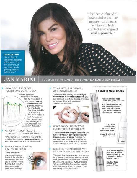 Jan Marini Interview Favorite Skincare Products Marini Beauty Magazine