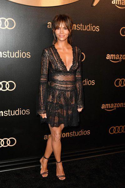 Actor Halle Berry attends Amazon Studios' Golden Globes Celebration at The Beverly Hilton Hotel.