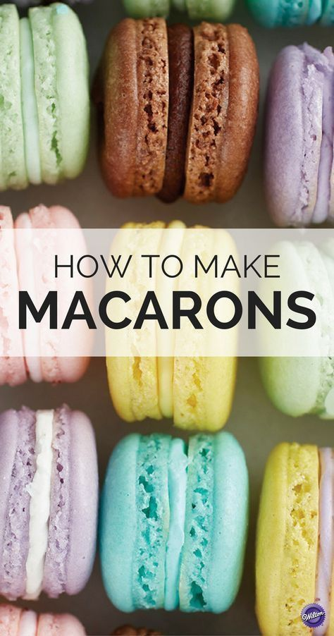 How to Make Macarons Cracked shells? Get the tips to making the perfect French Macarons whether it's your first time or time! Baking Recipes, Cookie Recipes, Baking Tips, French Macaroon Recipes, How To Make Macaroons, How To Make Cookies, Macaroon Cookies, Macaroon Filling, Macaroon Box