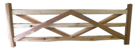Cedar Split Rail 10 6 3 Rail Gate At Menards Wood Fence Fence Panels Building Materials