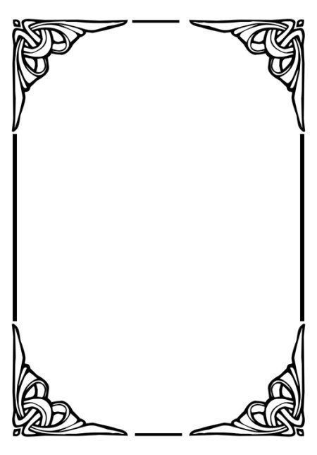 Page Dividers Plus Black And White Borders And Frames Borders