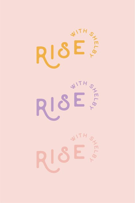 Rise with Shelby Secondary Logo | Rebrand for a community of self love
