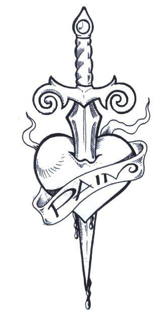 Heart Drawings with a Knife | heart dagger tattoo visible with the best heart da... - #Da #dagger #Drawings #heart #Knife #Tattoo #visible