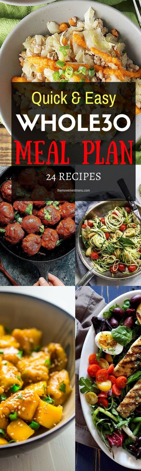A Whole30 meal plan that's quick and healthy! Whole30 recipes just for you. Best Trader Joes shopping list. Whole30 meal planning. Whole30 meal prep. Healthy paleo meals. Healthy Whole30 recipes. Easy Whole30 recipes. #paleodiet