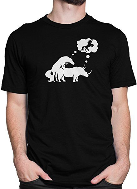 Herren T-Shirt und M/änner Tshirt s/ü/ßes Superheld Einhorn Fun Unicorn I am Batcorn