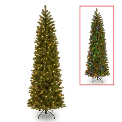 National Tree Company 6 5 Ft Pre Lit Douglas Fir Slim Artificial Christmas Tree With 3 Slim Artificial Christmas Trees Artificial Christmas Tree Christmas Tree