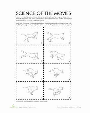 Science Of The Movies Worksheet Education Com Flip Book Animation Flip Books Art Flip Book