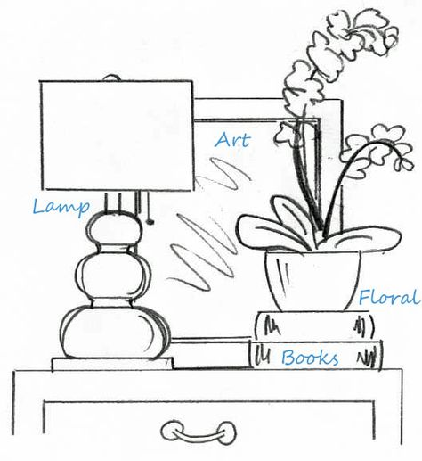 Styling tips: In case you were wondering how interior designers' tables are styled so well. There IS a formula! Home Staging, Staging Furniture, Home Bedroom, Bedroom Decor, Bedrooms, Interior Design Tips, Interior Decorating Tips, Design Interiors, Interior Styling
