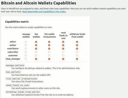 wordpress cryptocurrency wallet plugin