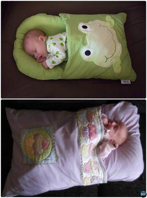 Diy Baby Pillowcase Sleeping Bag Nap Mat Sew Pattern Handmade Baby Shower Gift Ideas Instruc Pillowcase Sleeping Bag Handmade Baby Shower Gift Baby Pillow Case