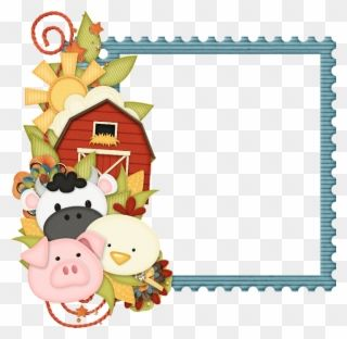 Marco Primaveral Borders And Frames Farm Theme Party Farm Animals Border Clipart Png Download Farm Theme Clip Art Borders Borders And Frames