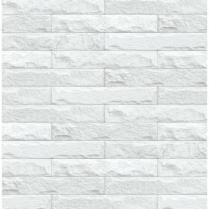 Arthouse Mystical Forest White Multi Un Pasted Wallpaper 664802 The Home Depot Peel And Stick Wallpaper White Brick Wallpaper Brick