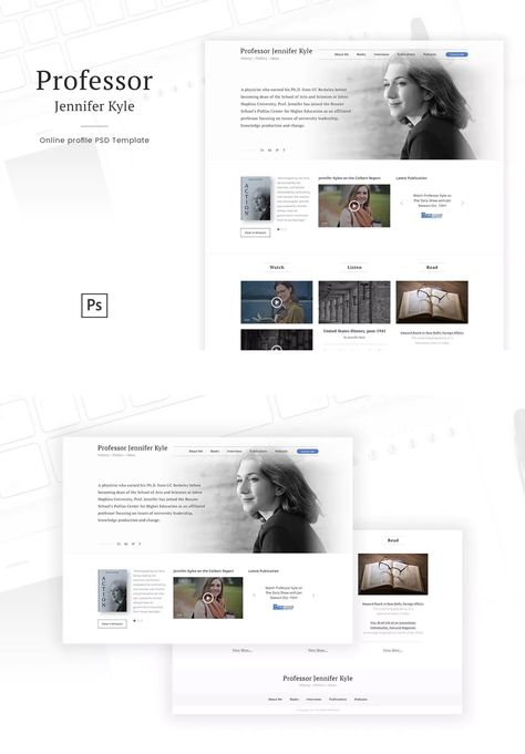 Organize your writing and academic achievements on a site that's professional and straight forward. Professor Online Profile Personal Blog Psd Website Template Web2 Veb Dizajn I Dizajn