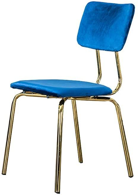 Qyj Dining Chair Kitchen Chair Velvet Fabric Sponge Cushioned Backrest Gold Metal Legs Chair Height 83cm In 2020 Dining Chairs Chair Chair Height