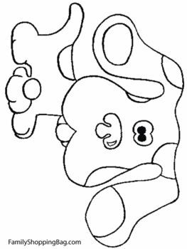 Blues Clues Dog Blues Clues Coloring Pages Free Printable Ideas From Family Shoppingbag Com Blues Clues Blue S Clues Dog Coloring Page