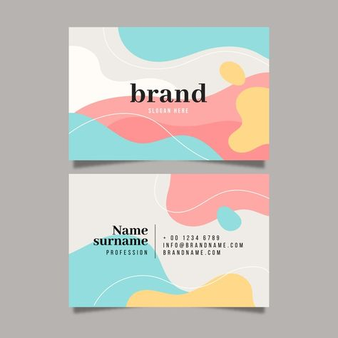 Calling Card Design, Name Card Design, Cute Business Cards, Free Business Card Templates, Creative Business Cards, Brochure Design, Branding Design, Identity Branding, Visual Identity