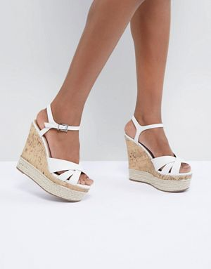 98260253985 New Look Leather Look Cork And Espadrille Wedge | I Don't Have ...