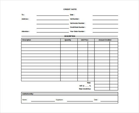 Credit Note Template Excel Templates Pinterest Credit note - credit note request form