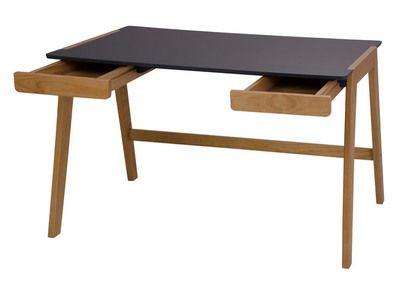 Bureau en bois avec tiroirs piètement massif longueur cm